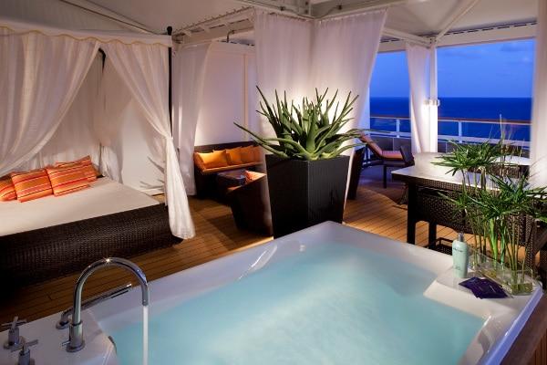 Espace spa à bord des bateaux de croisières de luxe Seabourn