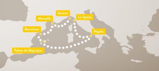 Eclat de la Mediterranee avec Costa Diadema