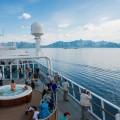 vue navire et paysage
