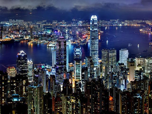croisiere en orient : port Victoria de Hong Kong