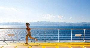 jogging sur le pont en croisiere