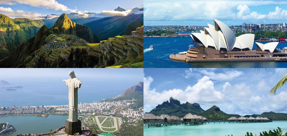 Destinations pour le tour du monde en croisière